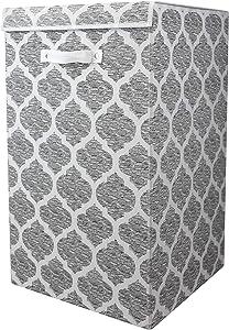 Home Basics SB39109, Laundry Hamper, Grey
