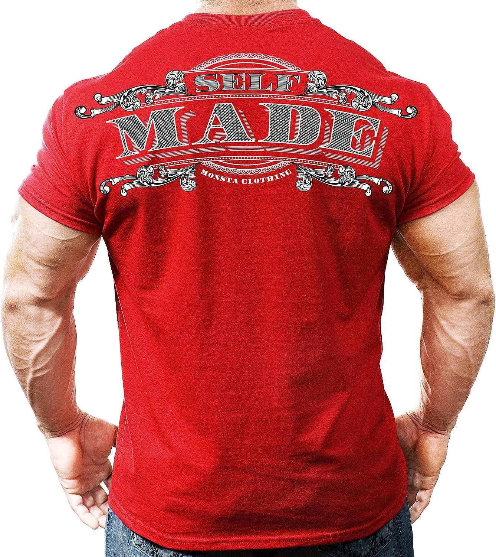 Monsta gift Clothing Co. Men's Dedication Bodybuilding Made Athle Self Workout