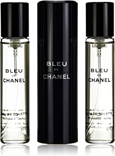 Chanel Bleu De Chanel Eau De Toilette Vapo Refillable 3X 20 Ml
