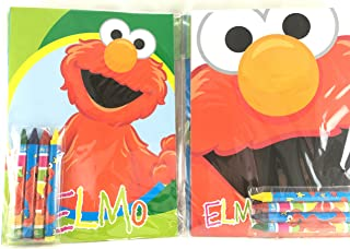 Party Favors Sesame Street Coloring Book & Crayon Set 12 Pack ( Assorted Style)