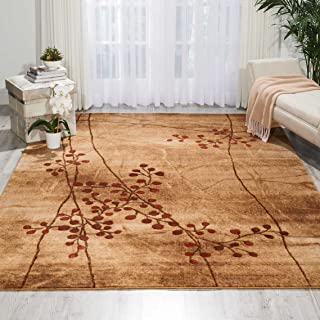Nourison Somerset Latte Rectangle Area Rug, 6-Feet 7-Inches by 9-Feet 7-Inches (6'7