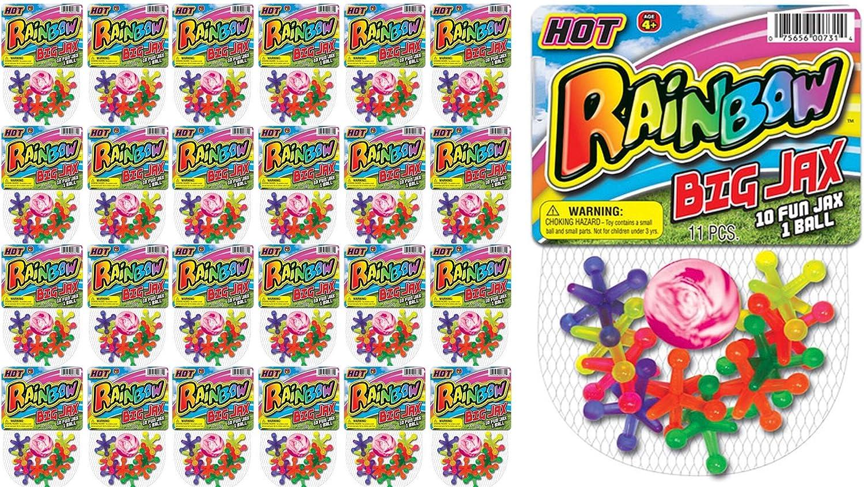 JA-RU Big Jacks Toy Set Pack of High quality new 24 Units Jax Classic Kids Game Industry No. 1