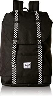 Retreat Youth Kid's Backpack, Black/Checkerboard Rubber, One Size