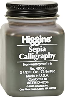 Higgins Sepia Calligraphy Ink, 2.5 Ounce (46036)