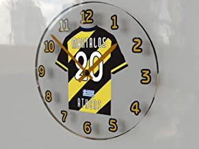 FanPlastic UCL UEFA Champions League Wall Clocks - Any Team Colours Available - Support Your Team !!!