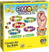 Creativity for Kids Emoji Bracelets - Emojis for Kids - Makes 5 Emoji Bead Bracelets