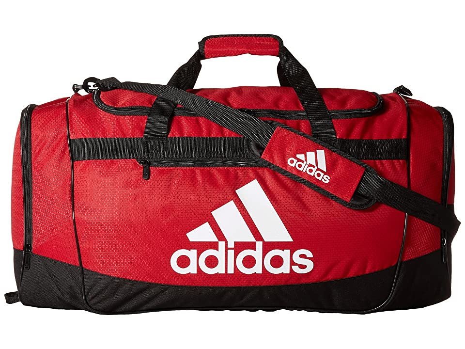 adidas Defender III Large Duffel (Power Red/Black/White) Duffel Bags
