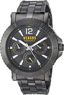 Versus by Versace Men's STEENBERG Quartz Watch with Stainless-Steel Strap, Grey, 120 (Model: VSP520518)