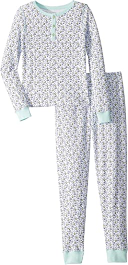 Easter Bunny Whale Pajama Set (Toddler/Little Kids/Big Kids)