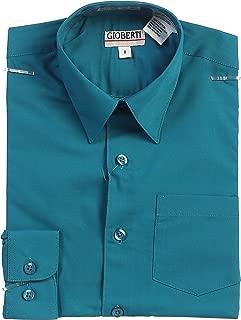 Boys Long Sleeve Solid Dress Shirt