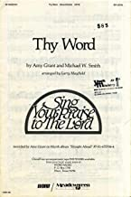 Thy Word SATB Sheet Music with Piano Accompaniment and Guitar Chords
