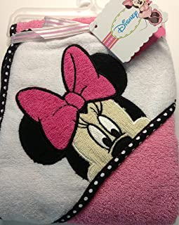 Disney Minnie Mouse Baby Hooded Bath Towel 26 in x 30 in