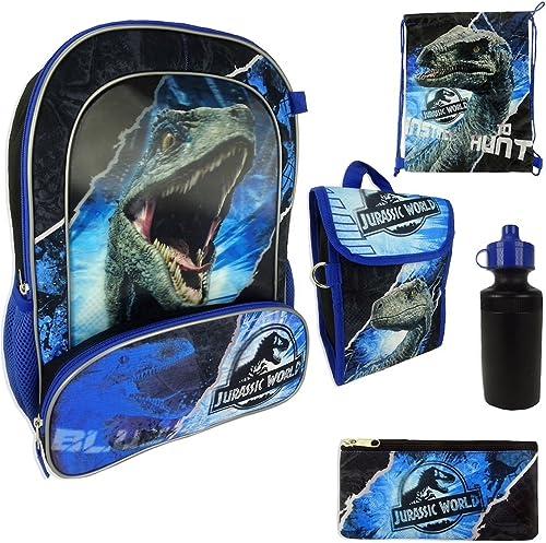 Jurassic World, Sac à Dos Enfant Bleu Bleu L