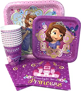 Disney Sofia The First Value Pack Birthday Party for 8 guests ( Plates, Cups, Napkins)
