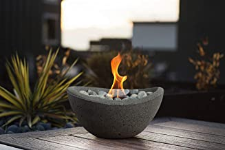 Terra Flame OD-TT-WAV-GPH-03 Wave Table Top Fire Bowl, Graphite