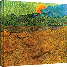 ArtWall Vincent Vangogh's Evening Landscape with Rising Moon, Gallery Wrapped Canvas, 24 by 32-Inch