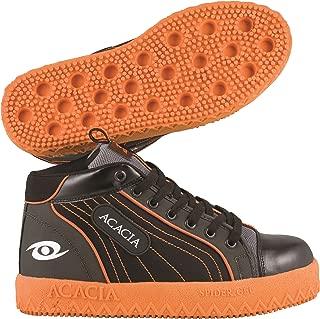 Spider-Gel Pro Broomball Shoes, Gray/Black/Orange, 3