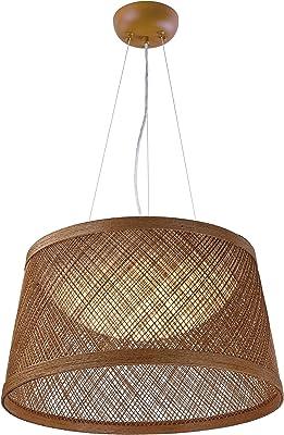 "Maxim 54376NA Bahama Hemp String Outdoor LED Pendant, 1-Light 15 Watt, 13""H x 24""W, Natural"