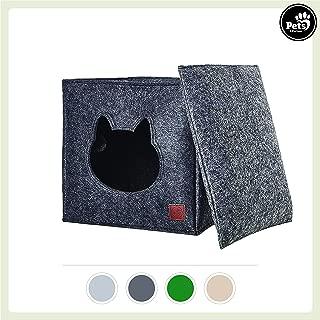 39cm MuXiaRen Fieltro Cat Cave Bed Desmontable Creative Eggshell Pet Bed Soft Suave autocalentable Lavable Cat Camas Ideal Cat Condo Tiene Capacidad Gatos tama/ño peque/ño a Mediano,Brown-47 25