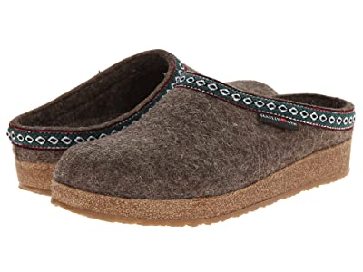 Haflinger GZ Classic Grizzly (Peat Moss) Clog Shoes