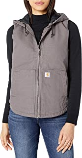 womens Washed Duck Hooded Vest