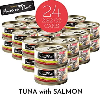 Fussie Cat Premium Tuna with Salmon Canned Cat Food - 24 - 2.82-oz. Cans