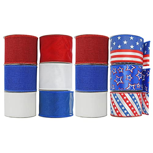 100dbbd1721c Set of 12 Wired Roll Ribbons! 36 Yards of Ribbon - 3 Assorted Solid Colors
