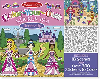 Melissa & Doug Color Your Own Sticker Pad Dress Up