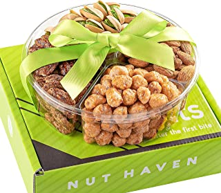 Fathers Day Nuts Gift Basket - Fresh Sweet & Salty Dry Roasted Gourmet Gift Basket - Food Gift Basket for Christmas, Thank...