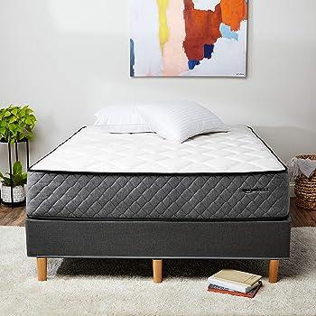 AmazonBasics Premium Hybrid Mattress - Medium Feel - Memory Foam - Motion Isolation Springs - 12-Inch, Queen
