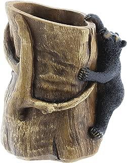 The Bridge Collection Black Bear Climbing a Tree Decorative Cup Holder