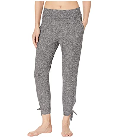 Beyond Yoga Keep It Lightweight and Easy Fold-Over Midi Sweatpants (Black/White Spacedye) Women