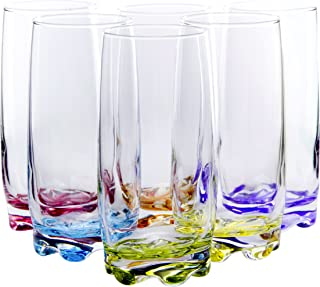 blue ombre drinking glasses