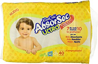 Kleenbebe Absorsec Ultra, Unisex, Talla Chica, 40 Pañales