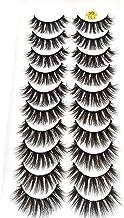 HBZGTLAD 38 Styles 10 pairs natural false eyelashes fake lashes long makeup 3d mink lashes extension eyelash mink eyelashes for beauty (3D101)