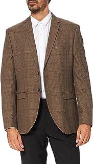 Selected Men's Slhslim-mylologan Brown Check BLZ B Noos Blazer