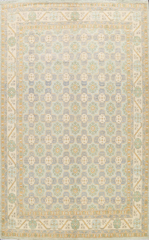 Geometric Oklahoma City Mall Khotan Oriental Area Max 87% OFF Rug Room Wool Living Hand-Knotted