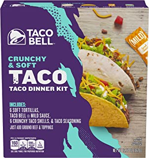 Taco Bell Crunchy & Soft Taco Dinner Kit, 12.77 oz Box (Pack of 10)