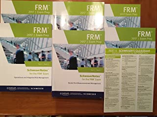 Kaplan Schweser FRM Exam Prep Part II Books 1-4, Practice Exam, Quick Sheet, and