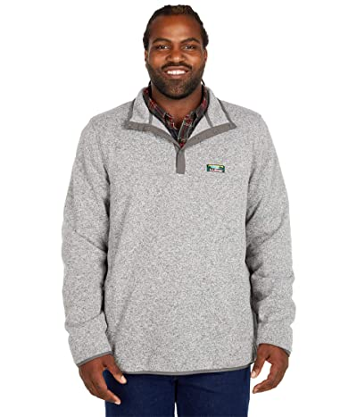 L.L.Bean Sweater Fleece Pullover Tall (Grey Heather) Men