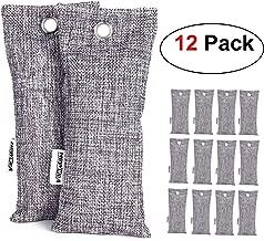 NEWBEA-1 12 Pack Charcoal Air Purifying Bag, Travel Size Shoe Deodorizer, Air Freshener, Odor Eliminator, Odor Absorber for Shoes, Home, Closet, Car