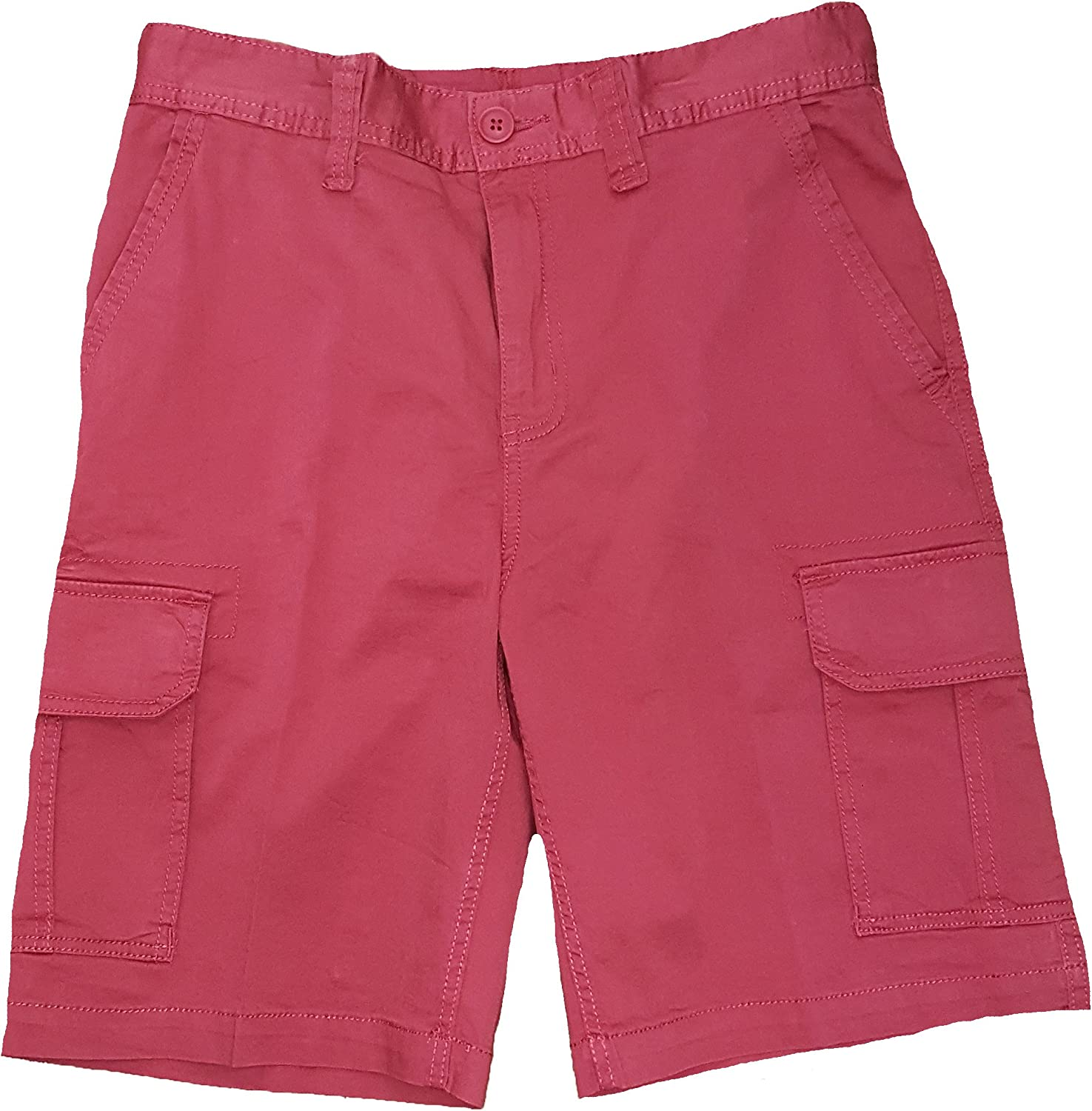Red Plum Above Knee Cargo Shorts
