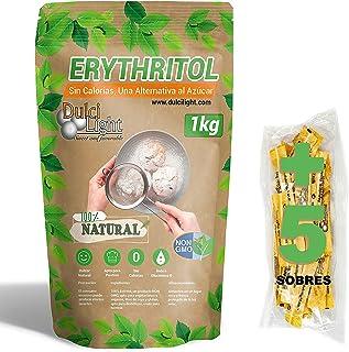 Édulcorant Érythritol 1Kg 100% NATUREL 0 CALORIES DulciLight   5 Sticks libres d'édulcorant brun   Substitut au sucre édul...