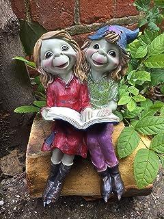 Osiris Trading UK Fabulous Pixies estantería de lectura libro de jardín decoración de duende duende duende Pixie decoración: Amazon.es: Hogar