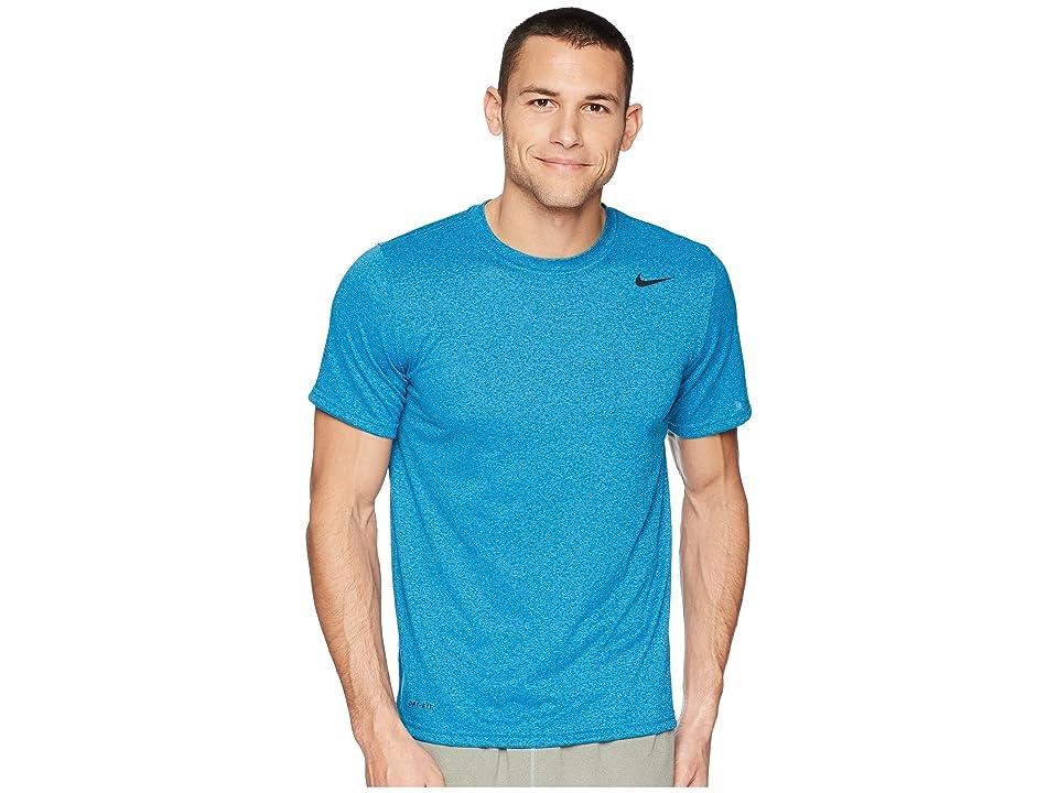 Nike Legend 2.0 Short Sleeve Tee (Blue Force/Equator Blue/Heather/Black) Men