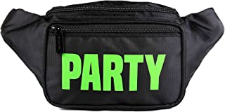 SoJourner Bum Bag Fanny Pack Neon Party Black | for women, men and kids | cute fits small medium large