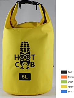 Hoot Cob Ultimate Waterproof Roll Top Dry Bag 5L Keeps Gear Safe and Dry for Kayaking, Canoeing, Beach, Rafting, Boating, Hiking, Camping, and Fishing
