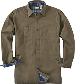 Canvas/Flannel Lined Shirt Jacket