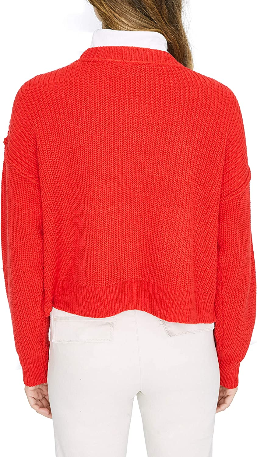 Sanctuary Womens Fall for It Cable Knit Acrylic Cardigan Sweater