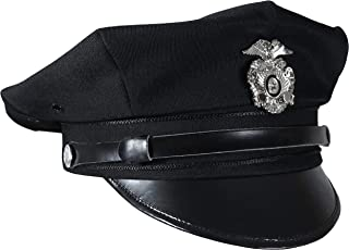 US Police 8 Point Visor Cap - Black (Medium)
